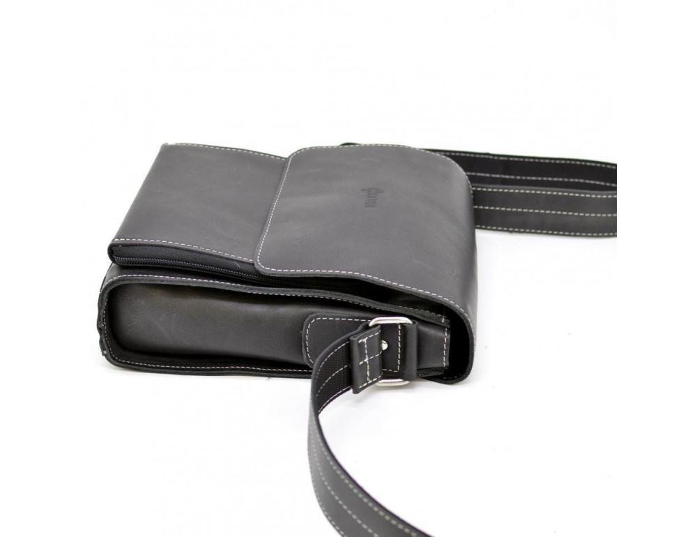 Чёрная мужская сумка-мессенджер TARWA RG-3027-3md - Фото № 5