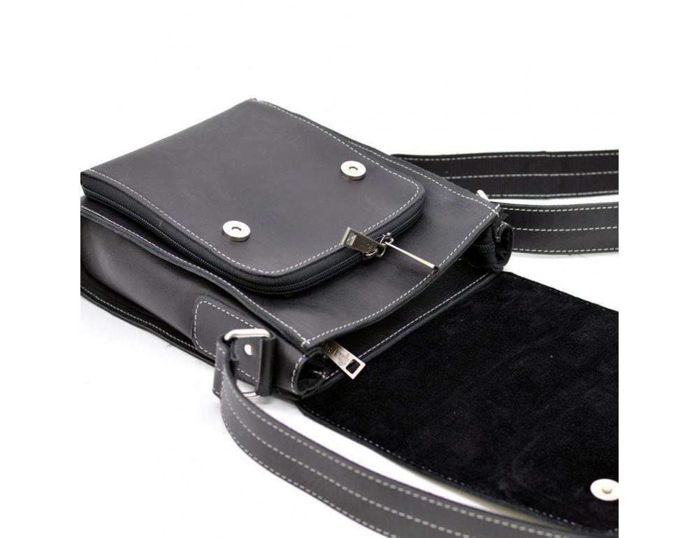 Чёрная мужская сумка-мессенджер TARWA RG-3027-3md - Фото № 6
