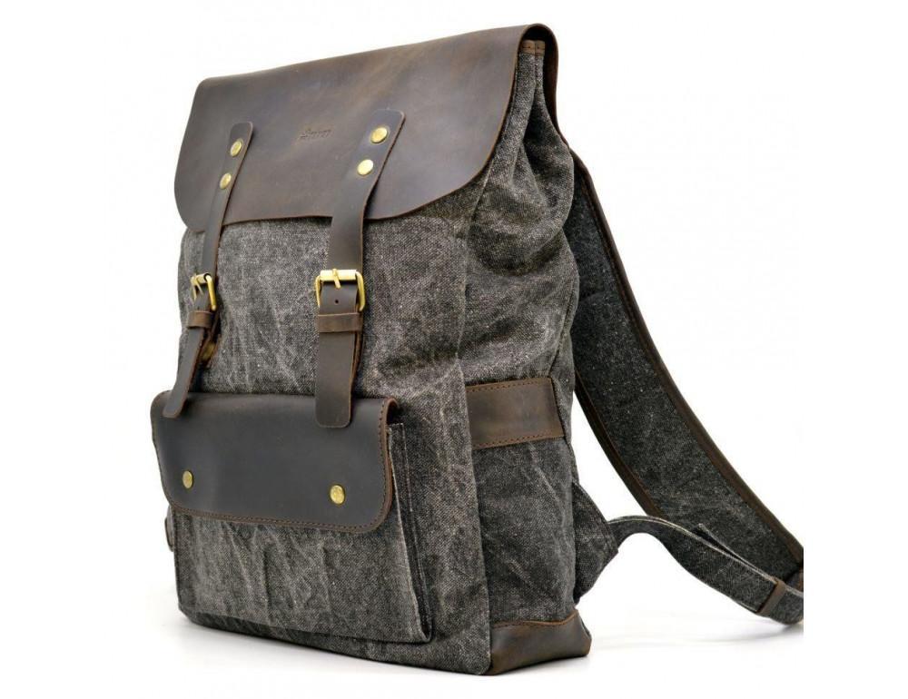 Серый рюкзак кожа + канва TARWA RGj-9001-4lx - Фото № 1