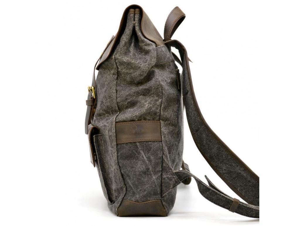 Серый рюкзак кожа + канва TARWA RGj-9001-4lx - Фото № 3