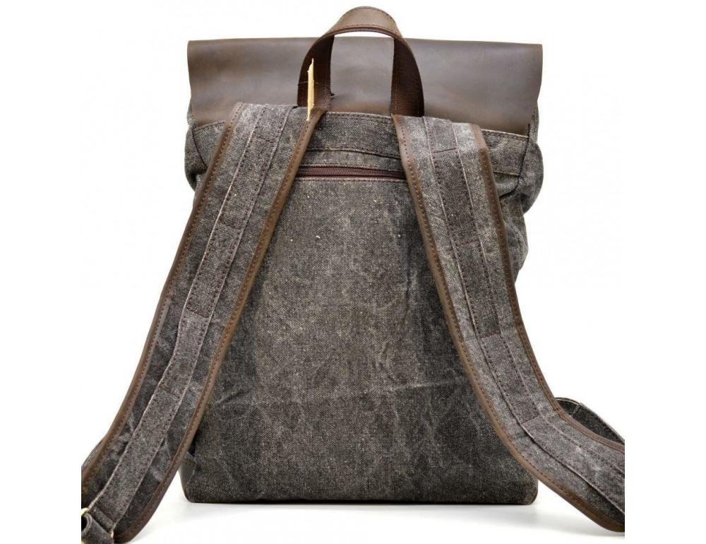 Серый рюкзак кожа + канва TARWA RGj-9001-4lx - Фото № 4