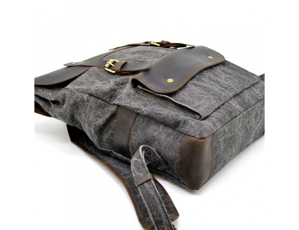 Серый рюкзак кожа + канва TARWA RGj-9001-4lx - Фото № 6