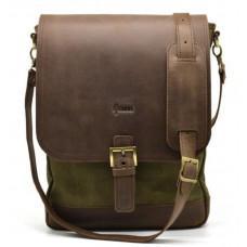 Коричневая мужская сумка через плечо на 13 дюймов Tarwa  RH-1808-4lx
