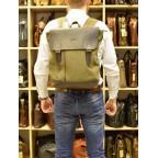 Мужской городской рюкзак TARWA RH-3880-3md хаки с коричневым - Фото № 101