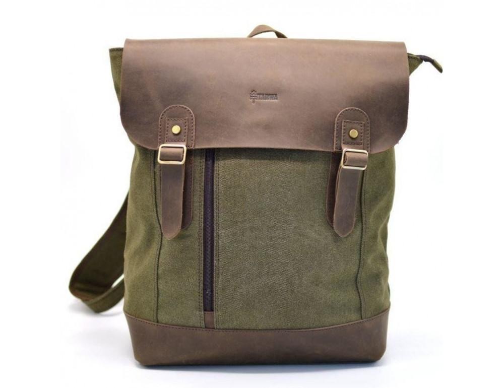 Мужской городской рюкзак TARWA RH-3880-3md хаки с коричневым - Фото № 1