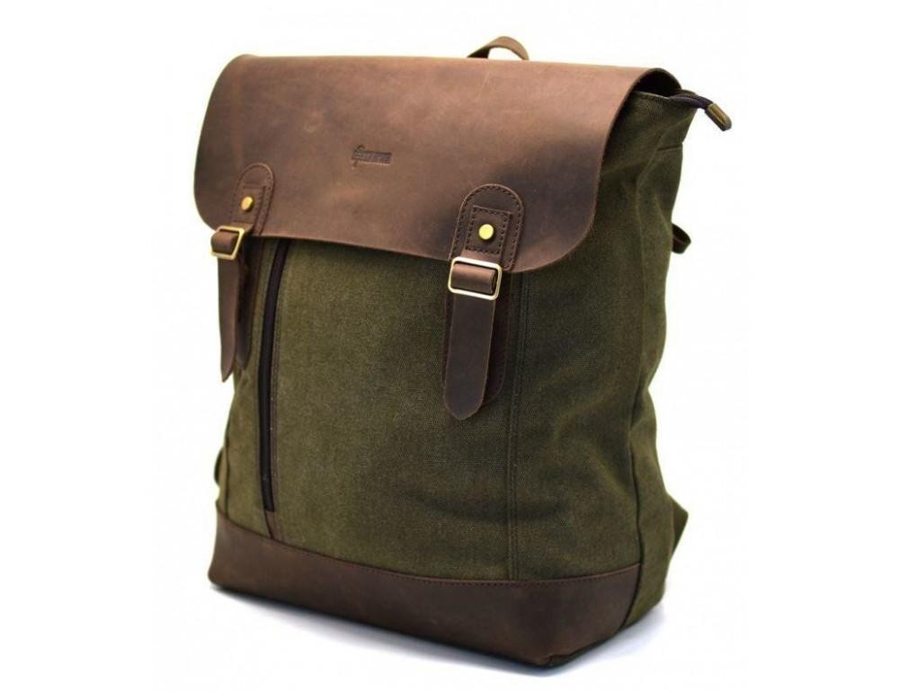 Мужской городской рюкзак TARWA RH-3880-3md хаки с коричневым - Фото № 3