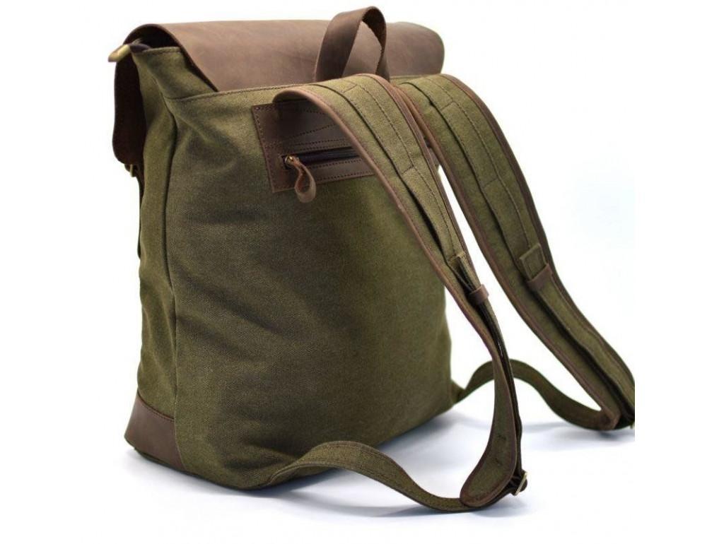 Мужской городской рюкзак TARWA RH-3880-3md хаки с коричневым - Фото № 4