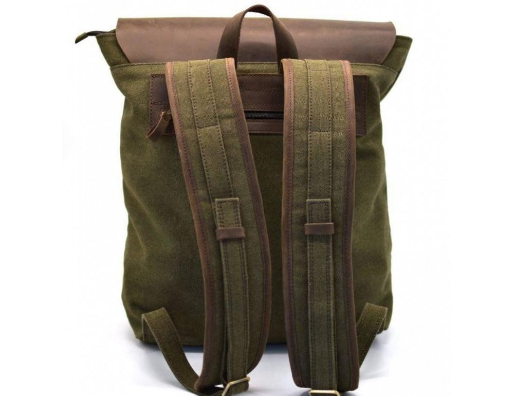 Мужской городской рюкзак TARWA RH-3880-3md хаки с коричневым - Фото № 5
