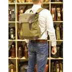 Мужской городской рюкзак TARWA RH-3880-3md хаки с коричневым - Фото № 109