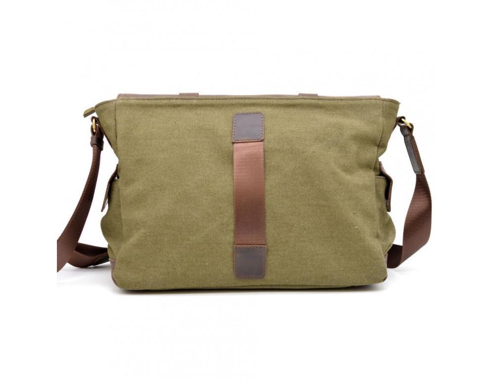 Зелёная сумка через плечо кожа с канвос Tarwa rh-6690-4lx - Фото № 2