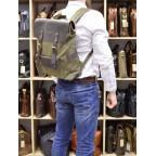 Молодёжный рюкзак кожа + канва TARWA RH-9001-4lx цвета хаки - Фото № 101