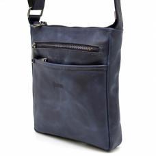 Синя чоловіча сумка з натуральної шкіри TARWA RK-1300-3md