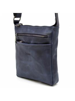Синяя мужская сумка из натуральной кожи TARWA RK-1300-3md