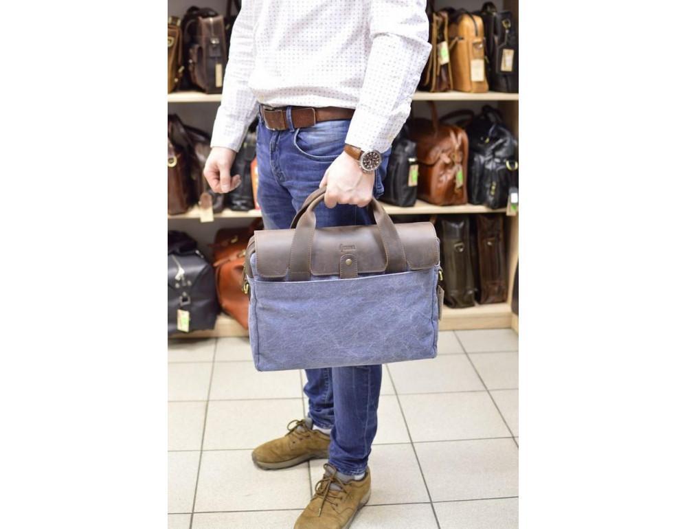 Стильная сумка под ноутбук TARWA RK-1812-4lx синяя - Фото № 2