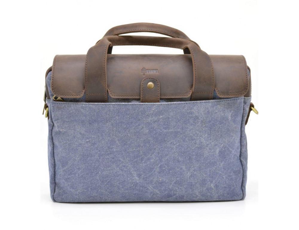 Стильная сумка под ноутбук TARWA RK-1812-4lx синяя - Фото № 1