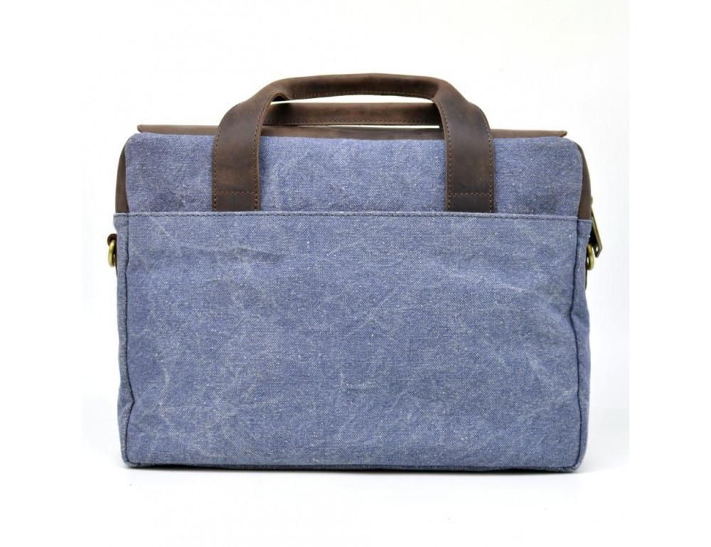 Стильная сумка под ноутбук TARWA RK-1812-4lx синяя - Фото № 3