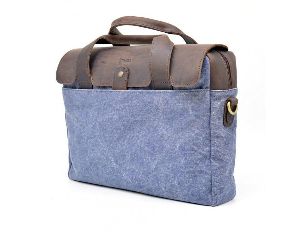 Стильная сумка под ноутбук TARWA RK-1812-4lx синяя - Фото № 4