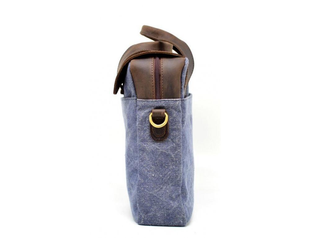Стильная сумка под ноутбук TARWA RK-1812-4lx синяя - Фото № 5