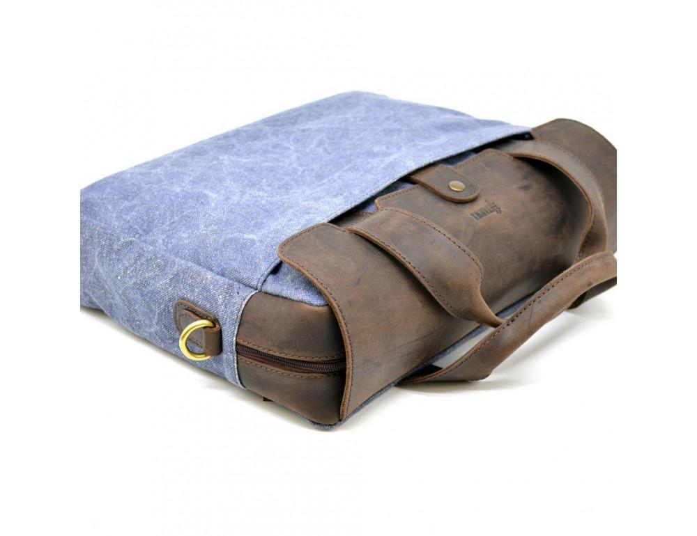 Стильная сумка под ноутбук TARWA RK-1812-4lx синяя - Фото № 6