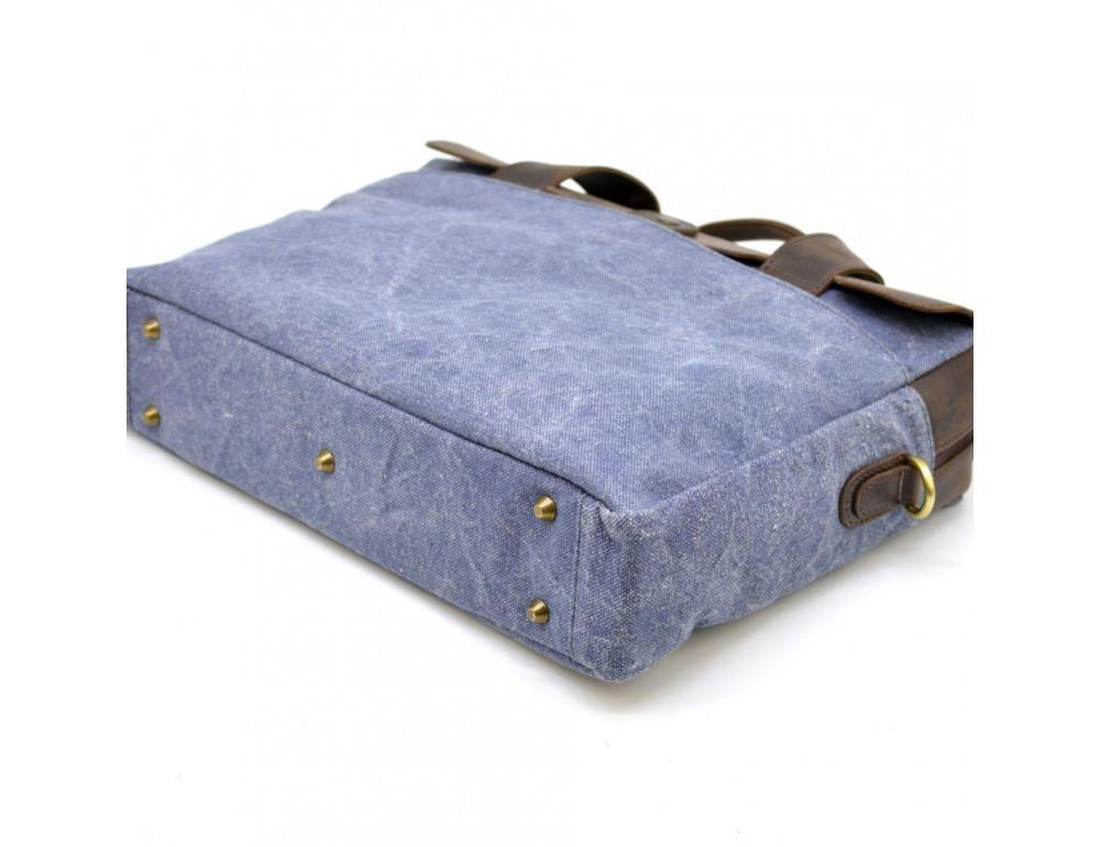 Стильная сумка под ноутбук TARWA RK-1812-4lx синяя - Фото № 7