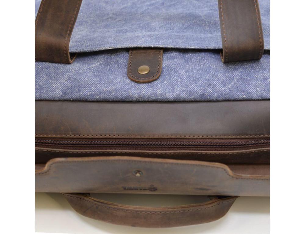 Стильная сумка под ноутбук TARWA RK-1812-4lx синяя - Фото № 8