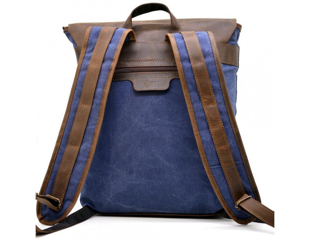 Мужской рюкзак на 14 дюймов с канвас и кожи Tarwa RK-3880-3md - Фото № 2