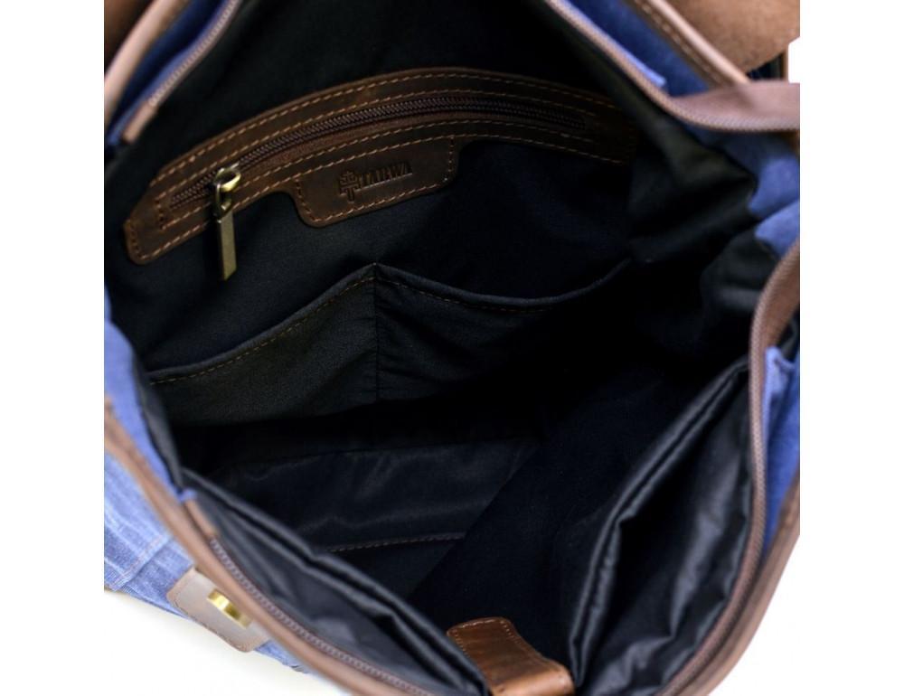 Мужской рюкзак на 14 дюймов с канвас и кожи Tarwa RK-3880-3md - Фото № 3