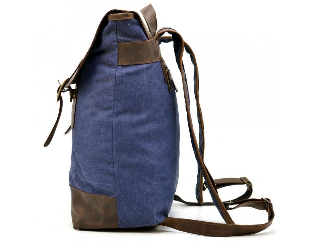Мужской рюкзак на 14 дюймов с канвас и кожи Tarwa RK-3880-3md - Фото № 4