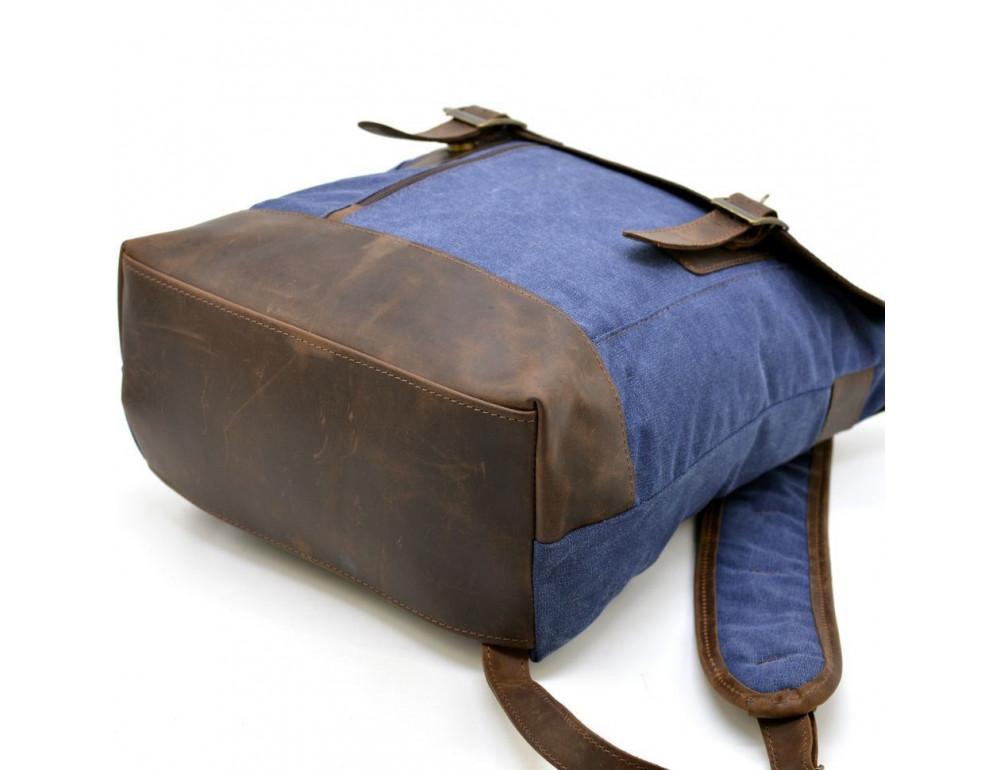 Мужской рюкзак на 14 дюймов с канвас и кожи Tarwa RK-3880-3md - Фото № 5