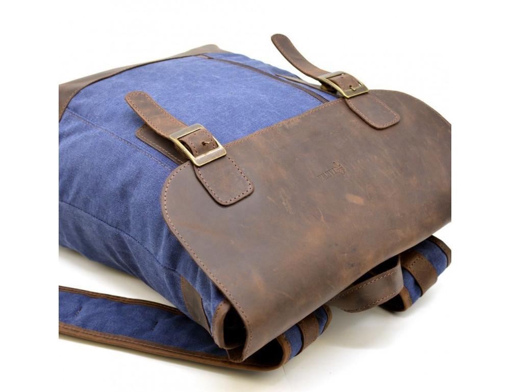Мужской рюкзак на 14 дюймов с канвас и кожи Tarwa RK-3880-3md - Фото № 6