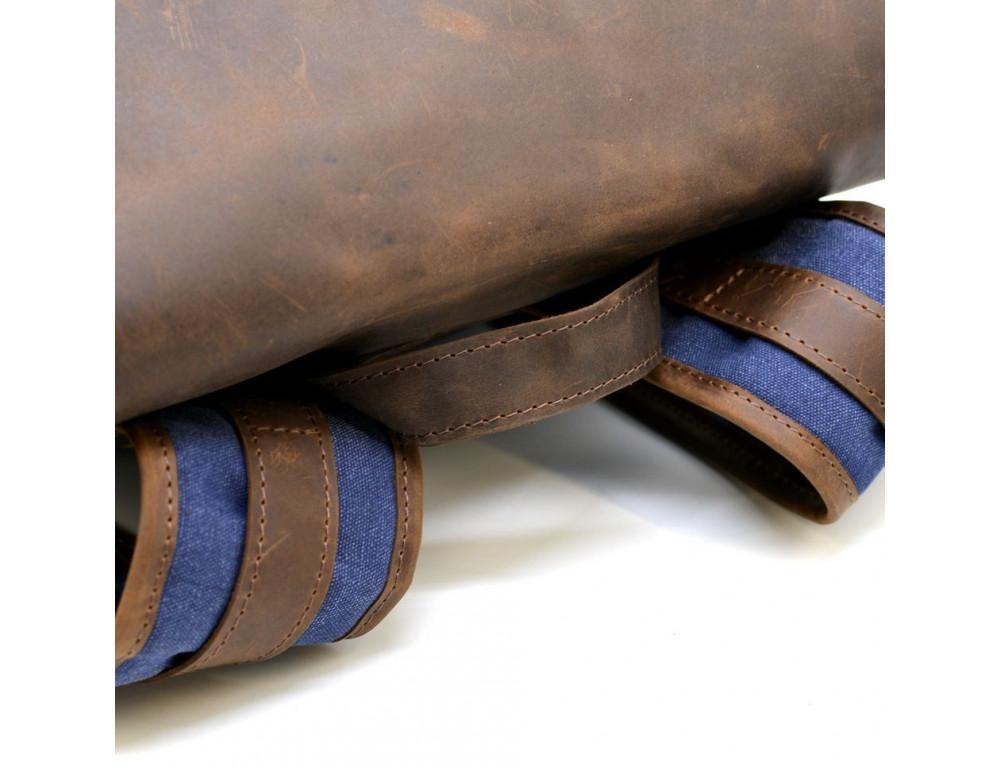 Мужской рюкзак на 14 дюймов с канвас и кожи Tarwa RK-3880-3md - Фото № 7