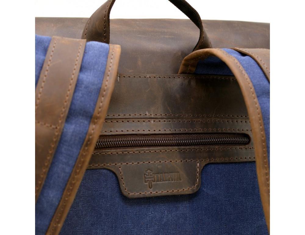 Мужской рюкзак на 14 дюймов с канвас и кожи Tarwa RK-3880-3md - Фото № 8