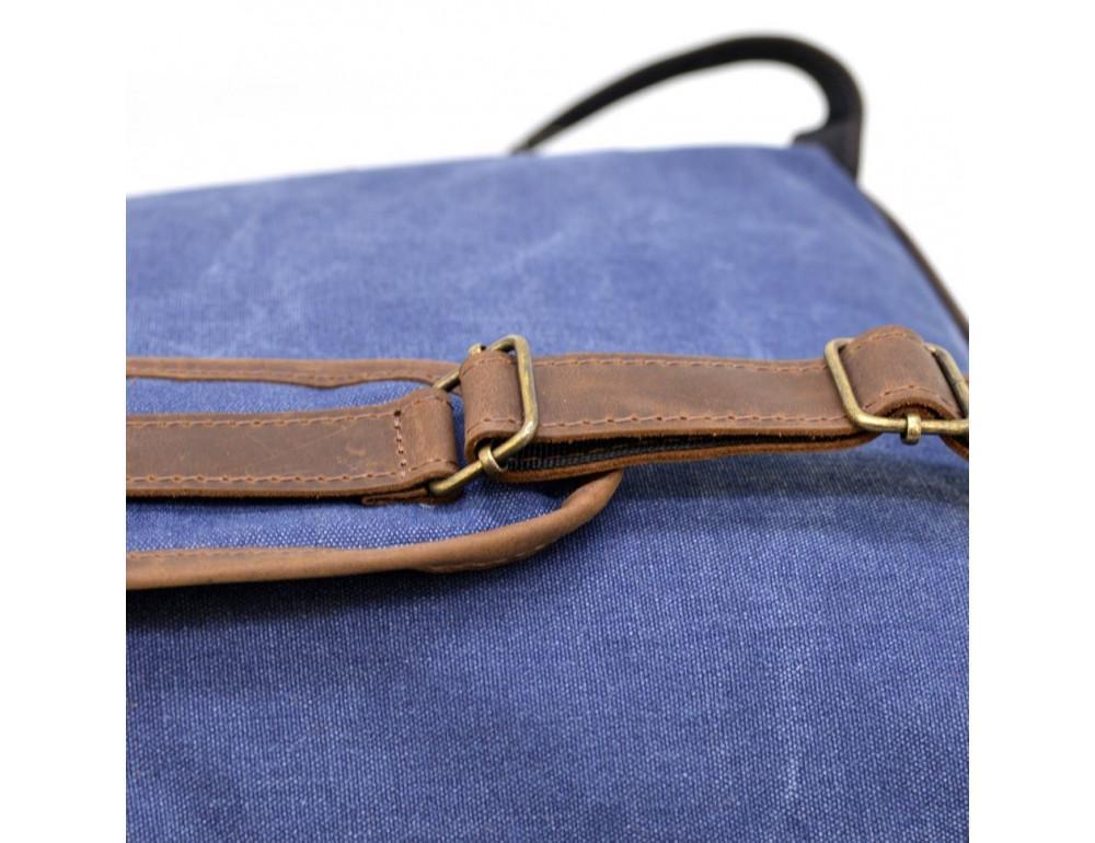 Мужской рюкзак на 14 дюймов с канвас и кожи Tarwa RK-3880-3md - Фото № 9