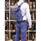 Синий молодёжный рюкзак кожа + канва TARWA RK-9001-4lx - Фото № 108