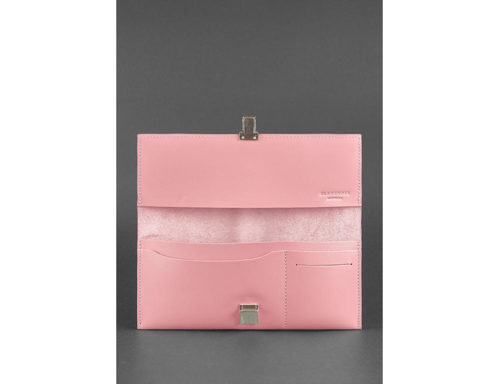 Розовый кожаный органайзер под документы Blanknote BN-TK-2-PINK-PEACH - Фото № 3