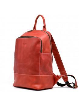 Червоний шкіряний рюкзак для жінок TARWA RR-2008-3md