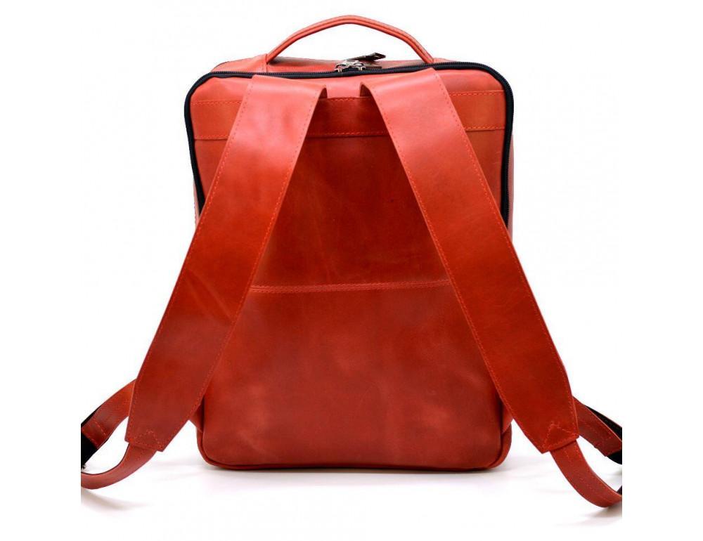 Красный кожаный рюкзак на два отделения TARWA RR-7280-3md - Фото № 2