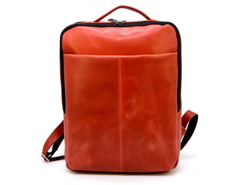 Красный кожаный рюкзак на два отделения TARWA RR-7280-3md - Фото № 1
