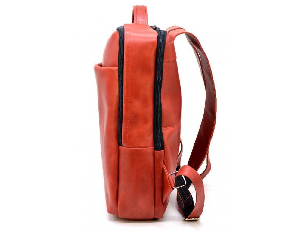 Красный кожаный рюкзак на два отделения TARWA RR-7280-3md - Фото № 3