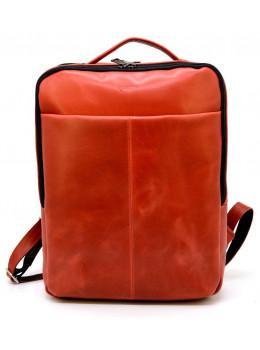 Красный кожаный рюкзак на два отделения TARWA RR-7280-3md