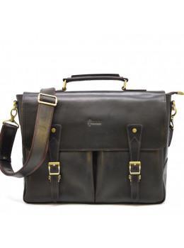 Тёмно-коричневый кожаный портфель TARWA RDС-3960-4lx