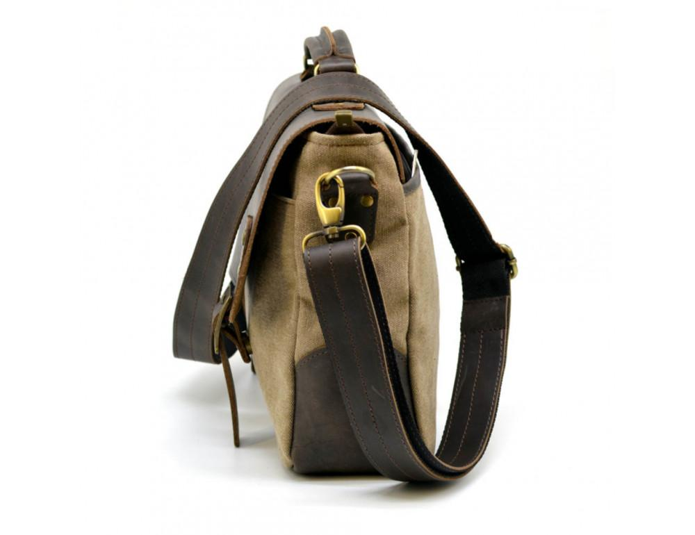 Коричневая сумка портфель из ткани и кожи TARWA RSc-3960-3md - Фото № 5