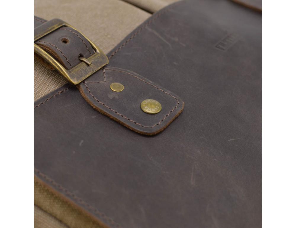 Коричневая сумка портфель из ткани и кожи TARWA RSc-3960-3md - Фото № 10
