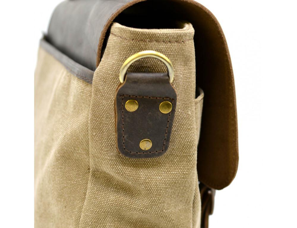 Коричневая сумка портфель из ткани и кожи TARWA RSc-3960-3md - Фото № 11