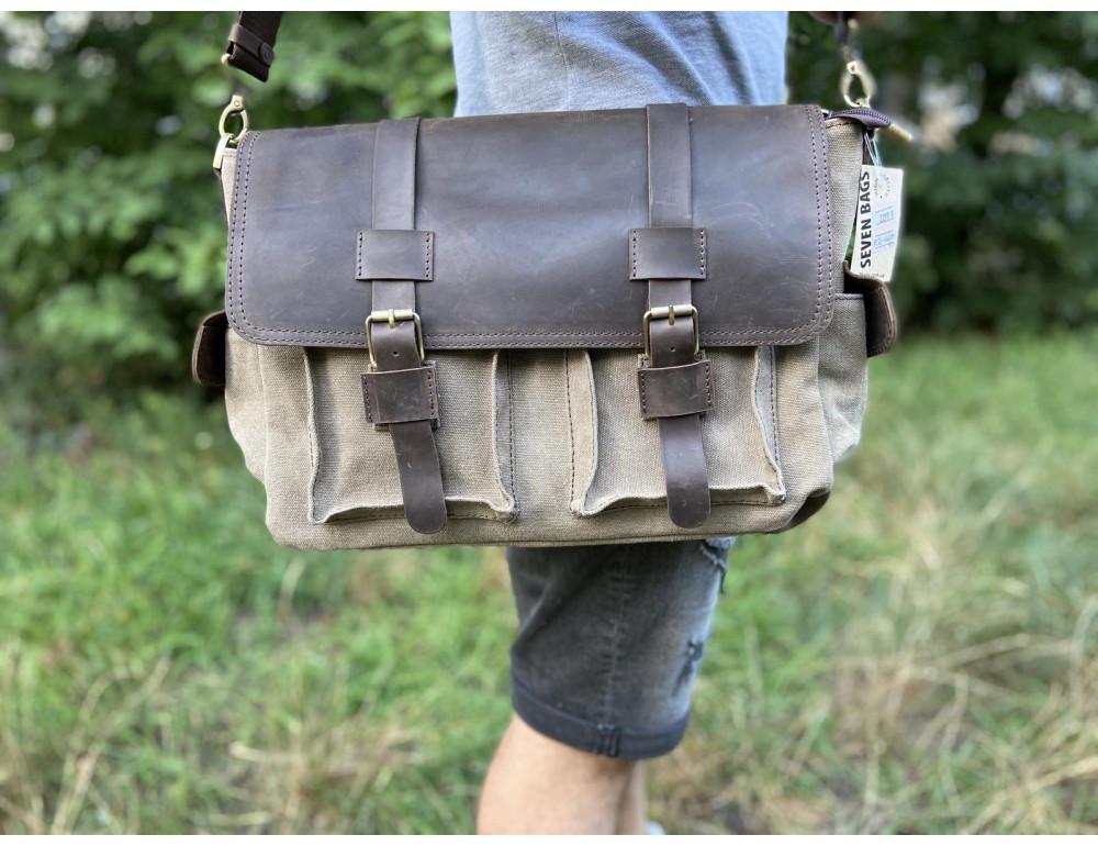 Коричневая кожаная сумка мессенджер TARWA RSc-6690-4lx - Фото № 2