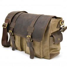 Коричневая кожаная сумка мессенджер TARWA RSc-6690-4lx