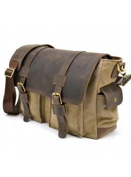 Коричнева шкіряна сумка месенджер TARWA RSc-6690-4lx
