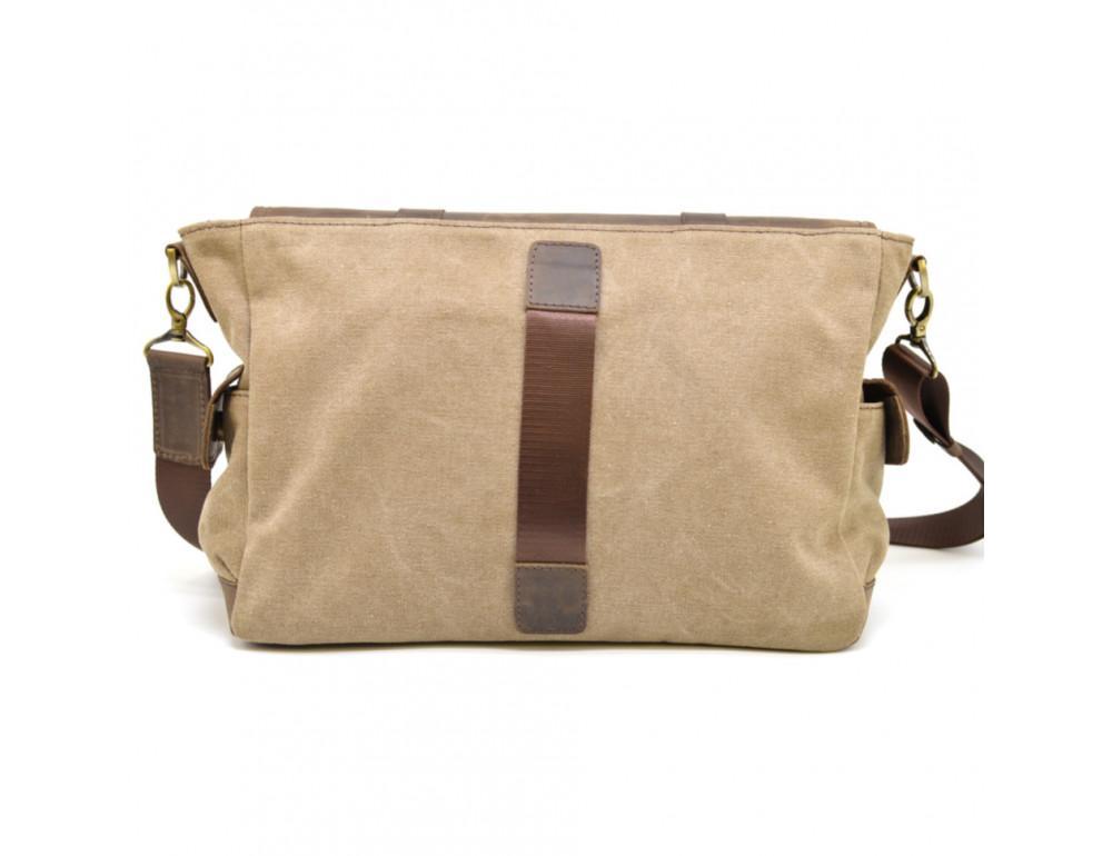 Коричневая кожаная сумка мессенджер TARWA RSc-6690-4lx - Фото № 4