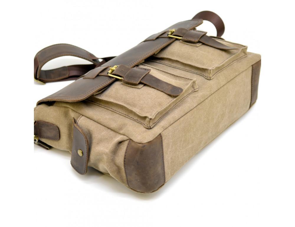 Коричневая кожаная сумка мессенджер TARWA RSc-6690-4lx - Фото № 5