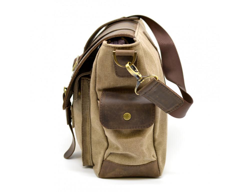 Коричневая кожаная сумка мессенджер TARWA RSc-6690-4lx - Фото № 7